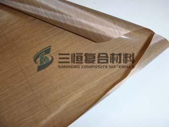 特氟龙单面布,单面铁氟龙耐高温布
